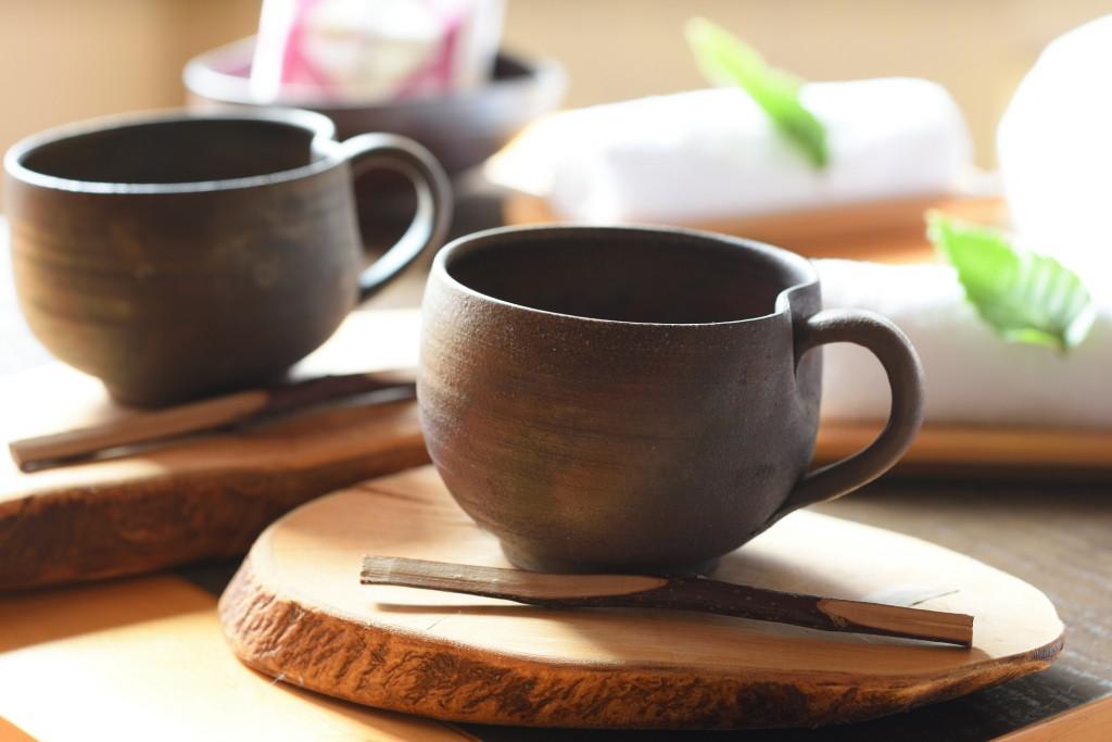 こだわりのコーヒーセット(津軽金山焼)